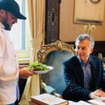 Ensalada presidencial: la primera cosecha de la huerta orgánica de Casa Rosada llegó a la mesa de Mauricio Macri