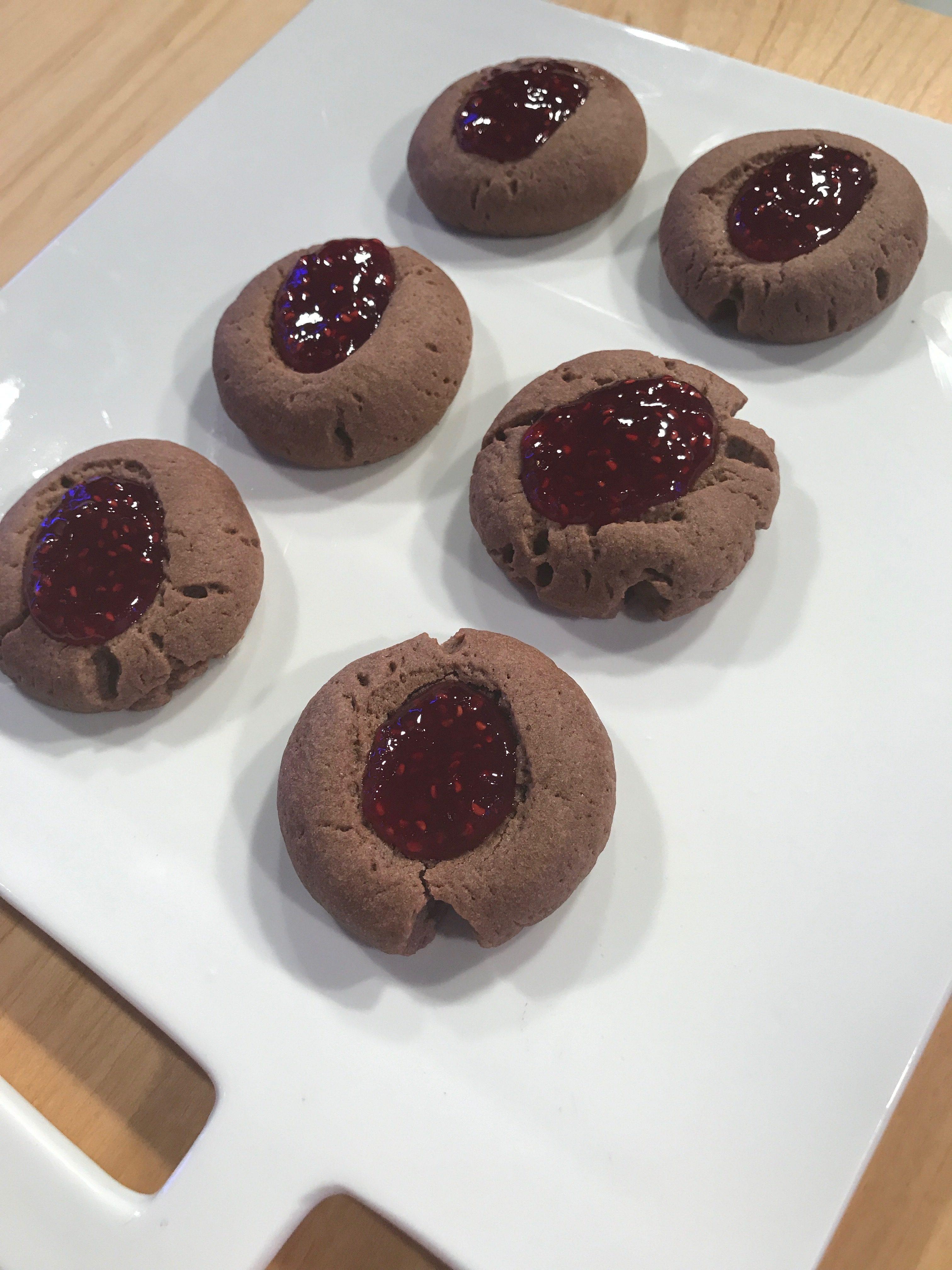 Pepas de chocolate con frambuesa - Cucinare