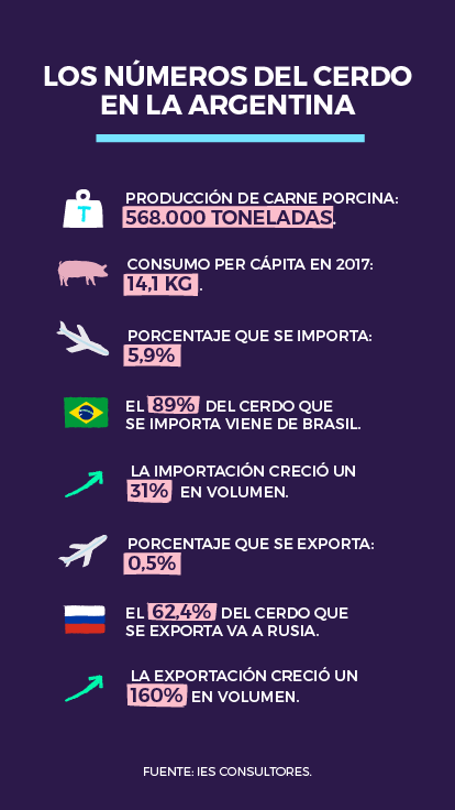 Los números del cerdo en la argentina