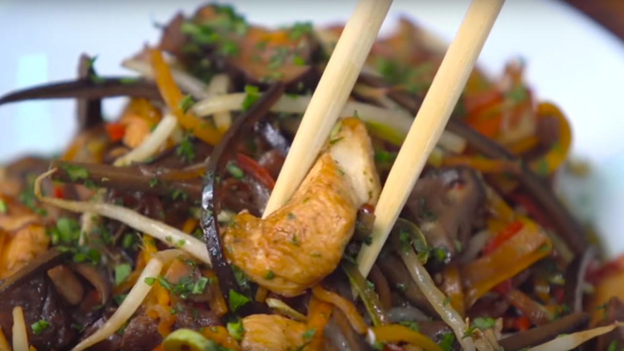Salteado de ave shiitakes y vegetales crocantes cucinare for Cucinare jalapenos