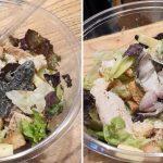 Estaban cenando en un shopping y encontraron una rana en su ensalada