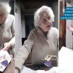 La abuela de 93 años que se emocionó cuando su nieto le llevó su torta favorita en plena cuarentena