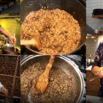 El risotto de Juana Viale: así lo preparó en vivo de la mano de un famoso cocinero