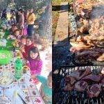 Organizaron un asado para un comedor de chicos que había recibido una merienda vegana