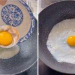 Huevo frito envuelto, la receta que se viralizó en las redes