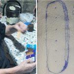 Tiene demencia senil, dibujó sus galletitas favoritas y su hija compartió la imagen para que la ayuden a descubrir cuáles eran