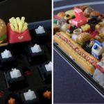 Teclas con forma de comida, el insólito invento de una youtuber