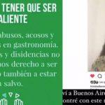 Fuerte apoyo del mundo de la gastronomía a Trinidad Benedetti, la pastelera que denunció a Pablo Massey por acoso