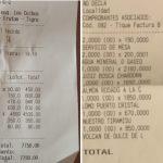 Precios: muestran los tickets de lo que gastaron en restaurants y disparan el debate en redes sociales