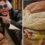 Alex Caniggia pone su hamburguesa gigante a la venta a un precio inconfesable