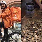 """Es argentino, gana 235 mil pesos como repartidor en Alemania y mostró lo que juntó de propinas: """"Hay un amplio margen de ahorro acá"""""""