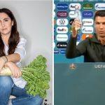 """La reacción de Narda Lepes luego del pedido de Cristiano Ronaldo por una alimentación más saludable: """"Gran mensaje"""""""