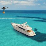 Delivery en drones, la nueva tendencia para pedir comida que utilizan las embarcaciones de lujo