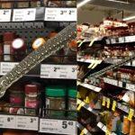 Una serpiente apareció entre las góndolas y causó terror entre los clientes de un supermercado