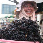 Arañas fritas, el plato que se convirtió en un alimento tradicional para los camboyanos